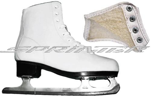 Коньки ледовые фигурные (материал верха PVC, подкладка искусственный мех).(р. 34-41) - KIMBO в Харькове