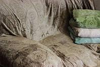 "Плед ""Круги коричневые"" из микрофибры"