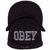 Бейсболка молодежная черная Obey