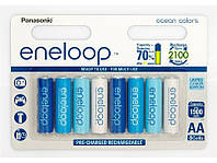 Аккумулятор Panasonic eneloop AA 1900 8HH mAh NI-MH Ocean Colors