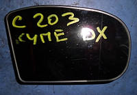 Зеркало правое вкладышMercedesC-class W203 2000-2007413133454