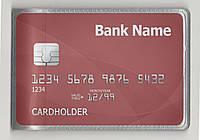 Визитница. Вкладыш кредитницы. 12 карт. Альбомная ориентация. Одинарная загрузка. Прозрачный ПВХ, фото 1