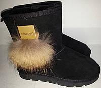 Угги женские зимние черные мод № 8661-1 KARO
