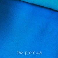 Трикотажное полотно трехнитка начес хб/пэ, голубой