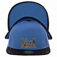 Бейсболка летняя голубая Yes!