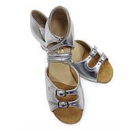 Туфли для танцев для девочек (цвет: серебро)