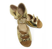 Туфли для танцев для девочек (цвет: золото)