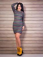 Полосатое платье с погонами