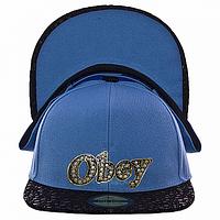 Бейсболка мужская голубая Obey