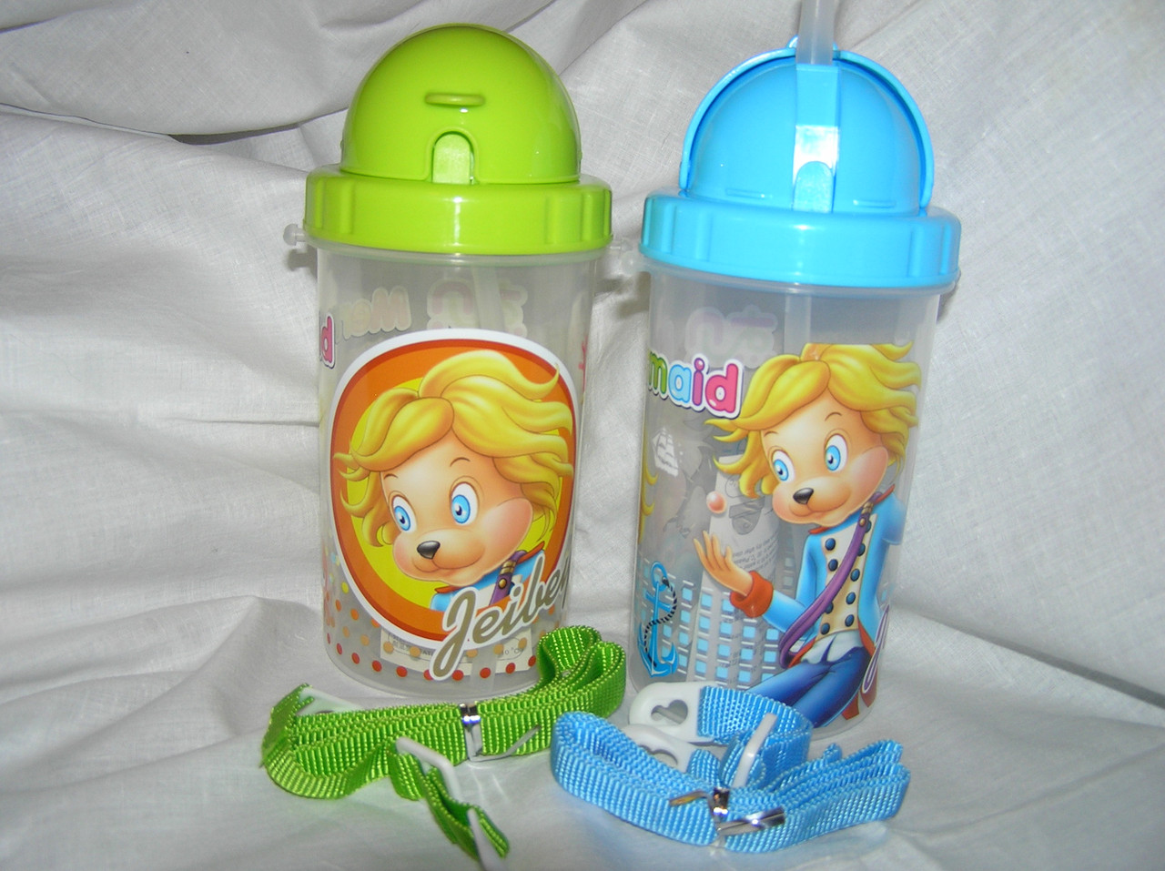 Бутылка для воды с силиконовой поилкой 500 мл.(салатовый)