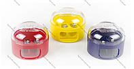 Точилка 208 К2  пластиковая двойная с контейнером  KUM