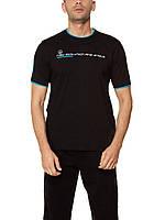 Мужская футболка LC Waikiki черного цвета с надписью