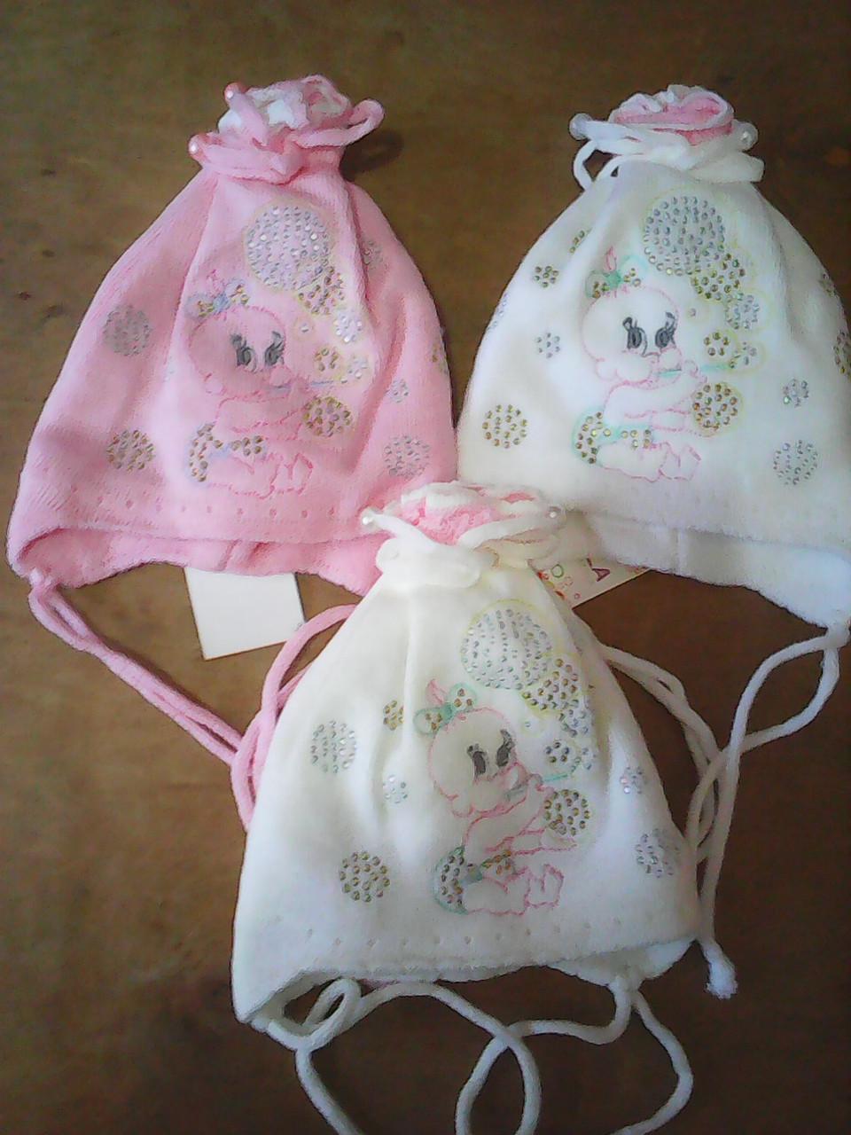 Шапочка зимняя для новорожденных