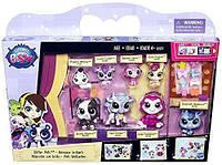 Набор 8 зверят литл пет шоп с аксессуарами, блестящая серия, Littlest Pet Shop Glitter Pets, Оригинал из США