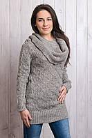 Свитер женский серый 44-48, фото 1