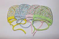 Чепчики для малышей (розовый, зеленый, голубой, желтый)