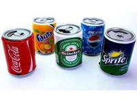 Портативный динамик Банка (Пиво, Coca Cola, Fanta, Sprite) *1217
