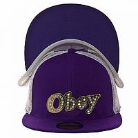 Бейсболка модная фиолетовая Obey