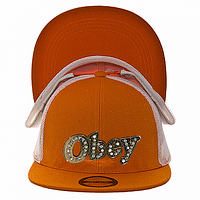 Бейсболка летняя оранжевая Obey