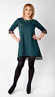 """Модное  коктейльное платье """"Аншлаг""""зеленого цвета."""
