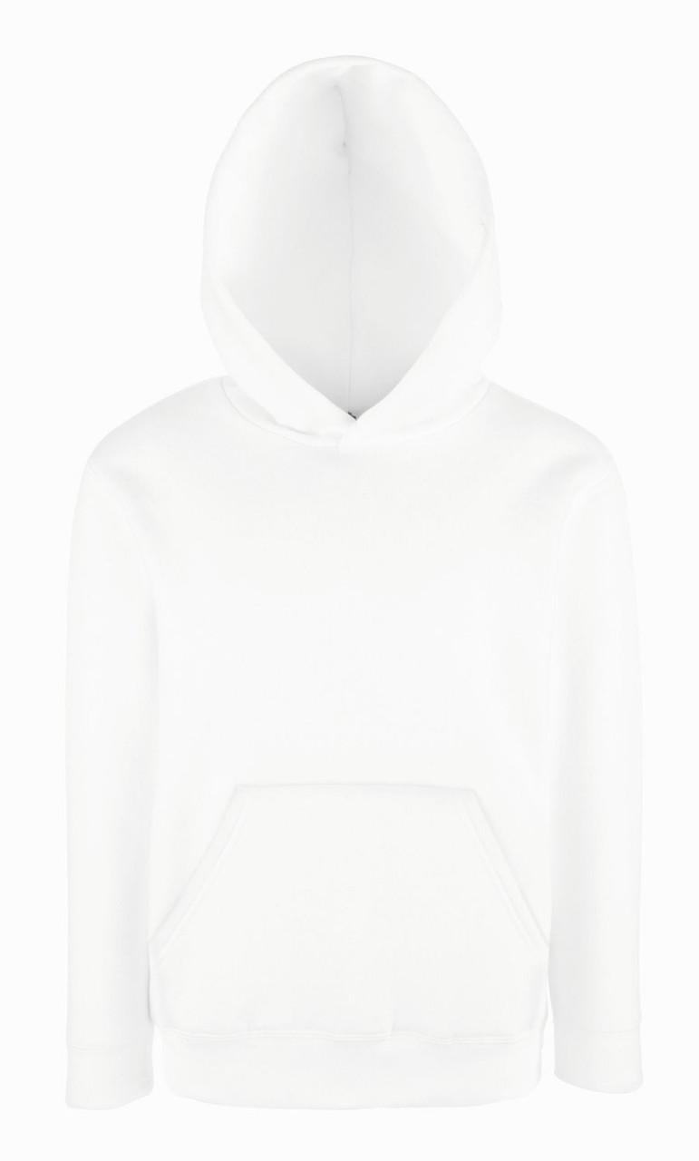 Толстовка детская с капюшоном Kids Premium Hooded Sweat, рост 128 (7-8лет), Белый
