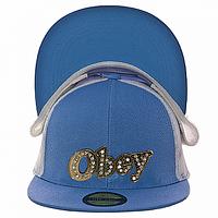 Бейсболка молодежная голубая Obey