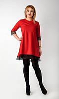 """Модное  коктейльное платье """"Аншлаг""""красного цвета."""