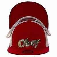 Бейсболка на лето красная Obey