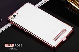 Чехол TPU для Xiaomi Mi 4c Rose Gold