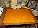 Силіконовий килимок для розкочування тіста і випічки з розміткою 65х45 див., фото 3
