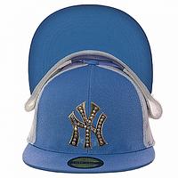 Бейсболка на лето голубая NY