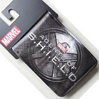 Кошелек Агенты Щит Agents of S.H.I.E.L.D. черная эмблема 50/123