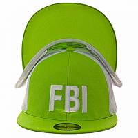 Бейсболка на лето салатовая FBI