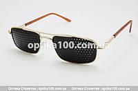 Детские очки тренажеры для глаз. От 7 до 13 лет. Перфорационные (в дырочку)