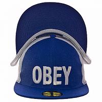 Бейсболка модная синяя Obey