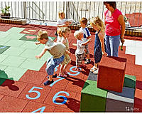 Резиновая плитка для детских и игровых площадок