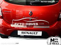 Накладка на бампер с загибом для Renault Sandero Stepway 2013-…