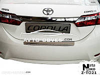 Накладка на бампер с загибом для Toyota Corolla XI
