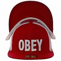Бейсболка спортивная красная Obey