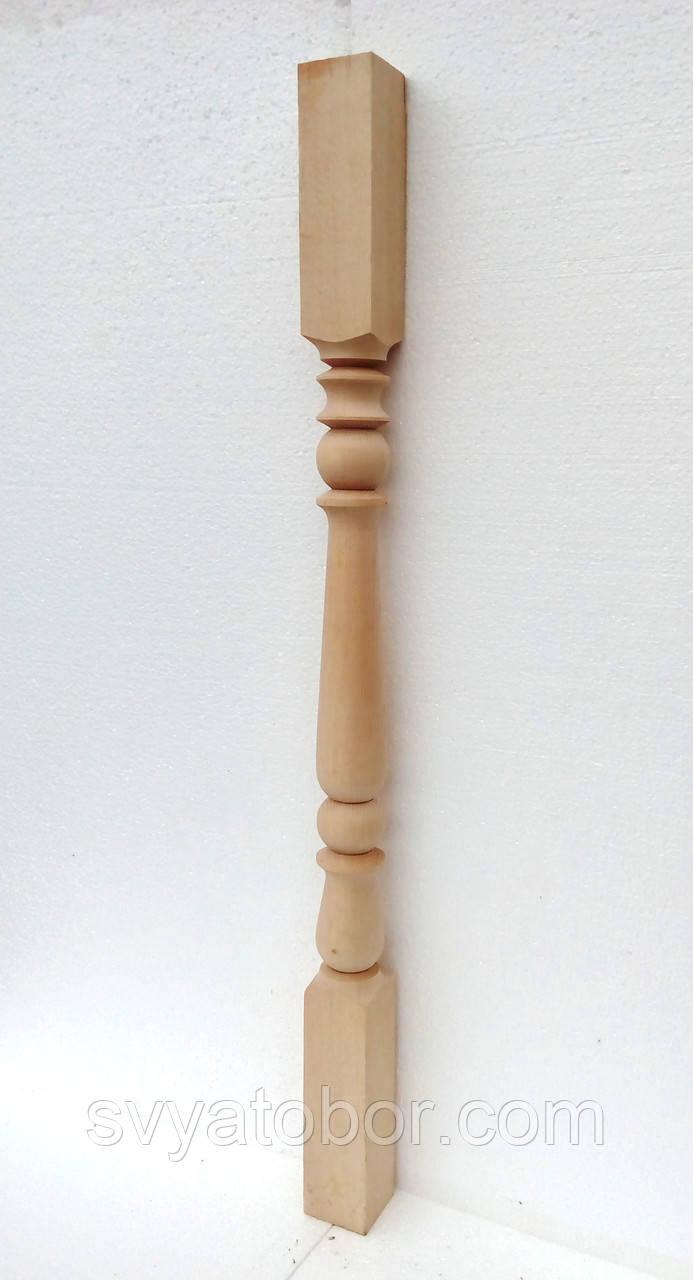 Балясина Бук 55х55х900 Сорт А, маленькая точеная (идеально гладкая и ровная)