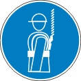 Знаки безопасности пользуйся защитным поясе