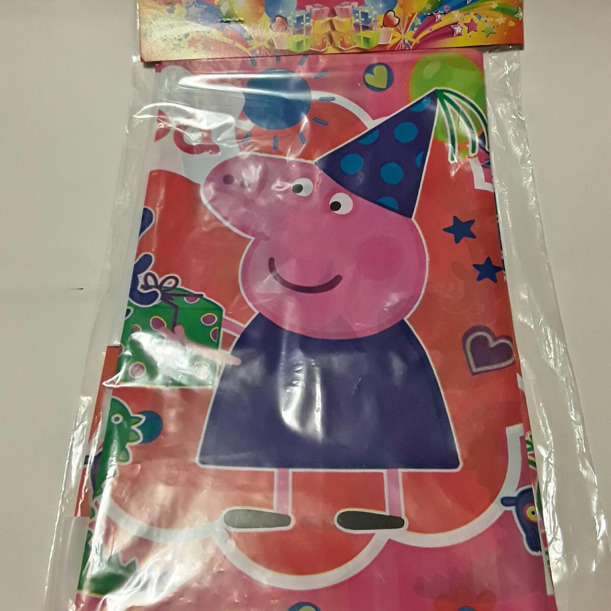 Скатерть праздничная свинка пеппа 110*180 см