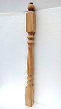 Балясина Бук 75х75х1050 Сорт А, большая точеная+фрезерованная (идеально гладкая и ровная)