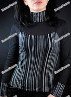 Новая Красивая кофта чёрного цвета с белыми полосками