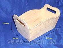 Лоток с ручками 26х16х14,5 см фанера заготовка для декора