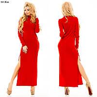 Платье длинное с разрезами 161 жан