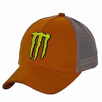 Бейсболка на лето темно-оранжевая Monster