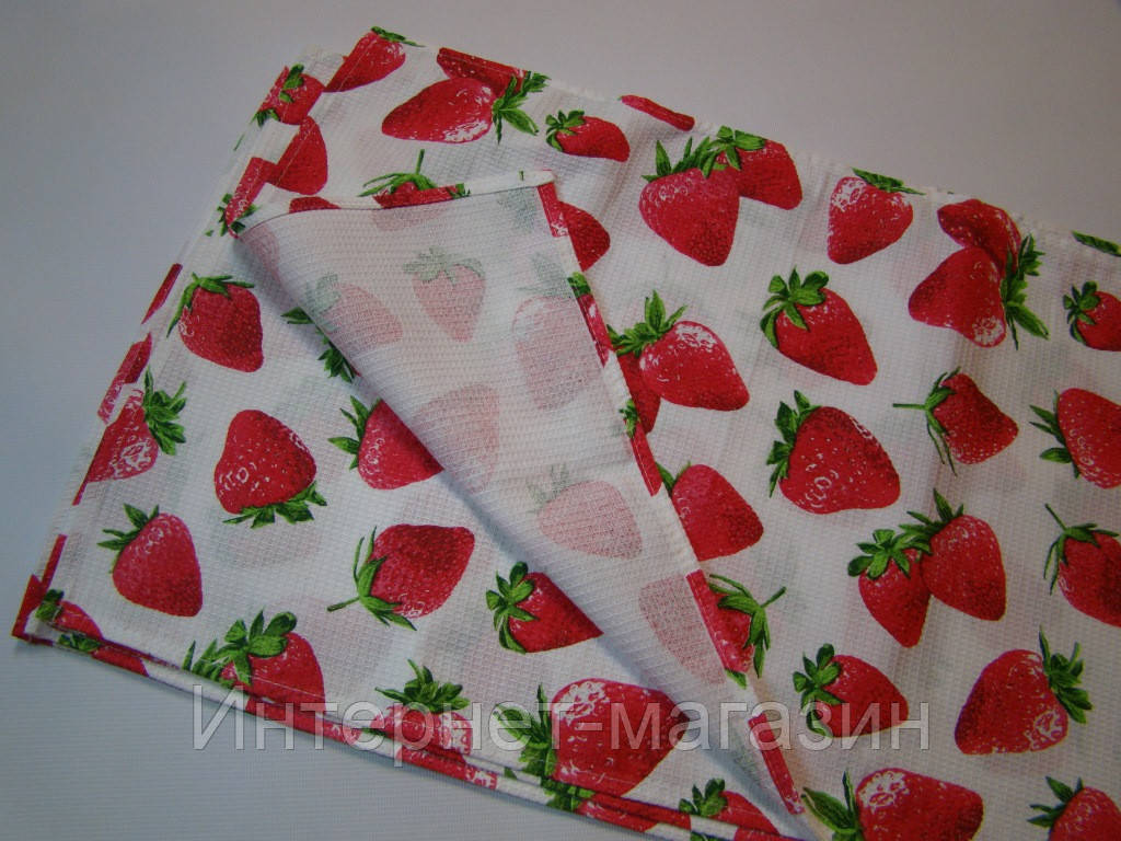 Кухонное вафельное полотенце (35х56 см) код 0026