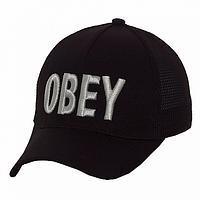Бейсболка модная черная Obey