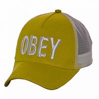 Бейсболка сетка желтая Obey